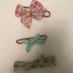 Accessories - Wunderkin Baby bows and knit headbands